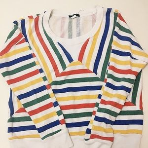 long sleeved tee w colorful stripes 🍊🍓🍋